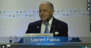 Mother Channel – www.motherchannel.com - COP21 LaurentFabius
