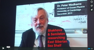 Mother Channel – www.motherchannel.com - Peter Wadhams - Arctic Methane Emissions