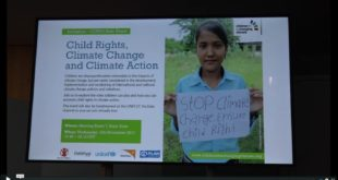MOTHER CHANNEL   COP 23 UNICEF CLIMATE CHANGE AND CHILD RIGHTS