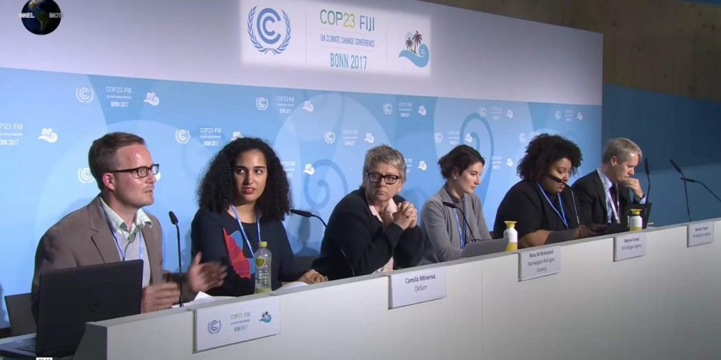 MOTHER CHANNEL | COP23 PRESS BRIEFING PANEL ON HUMAN CHANGE AND MOBILITY